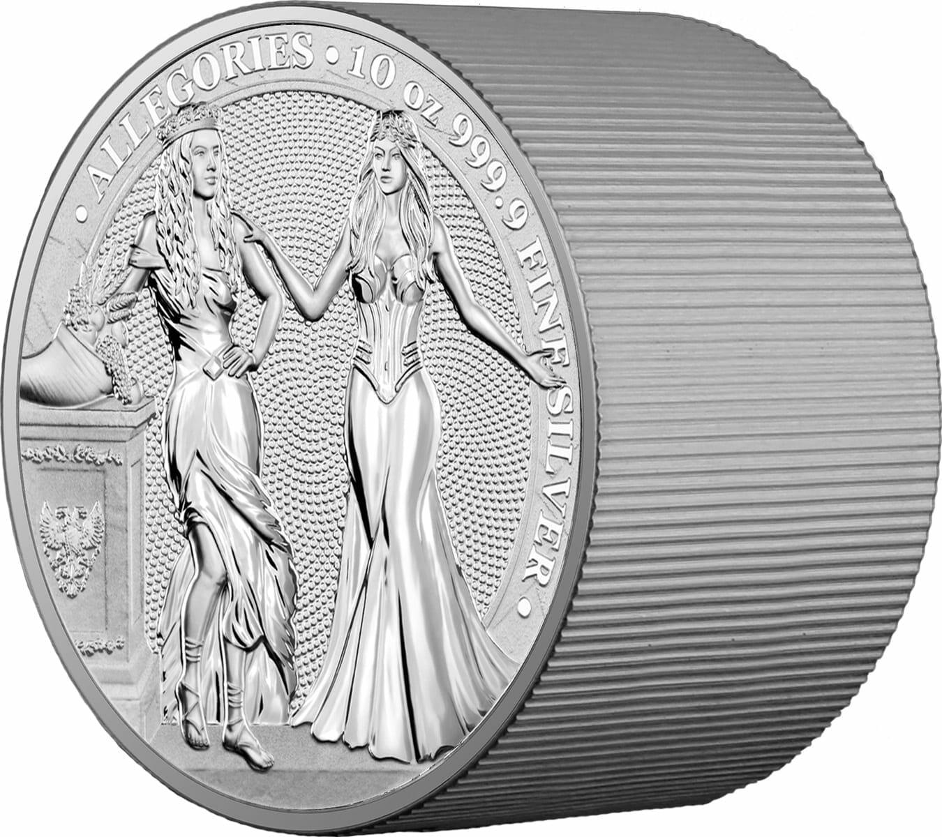 2020 The Allegories - Italia & Germania 10oz .9999 Silver Coin 2
