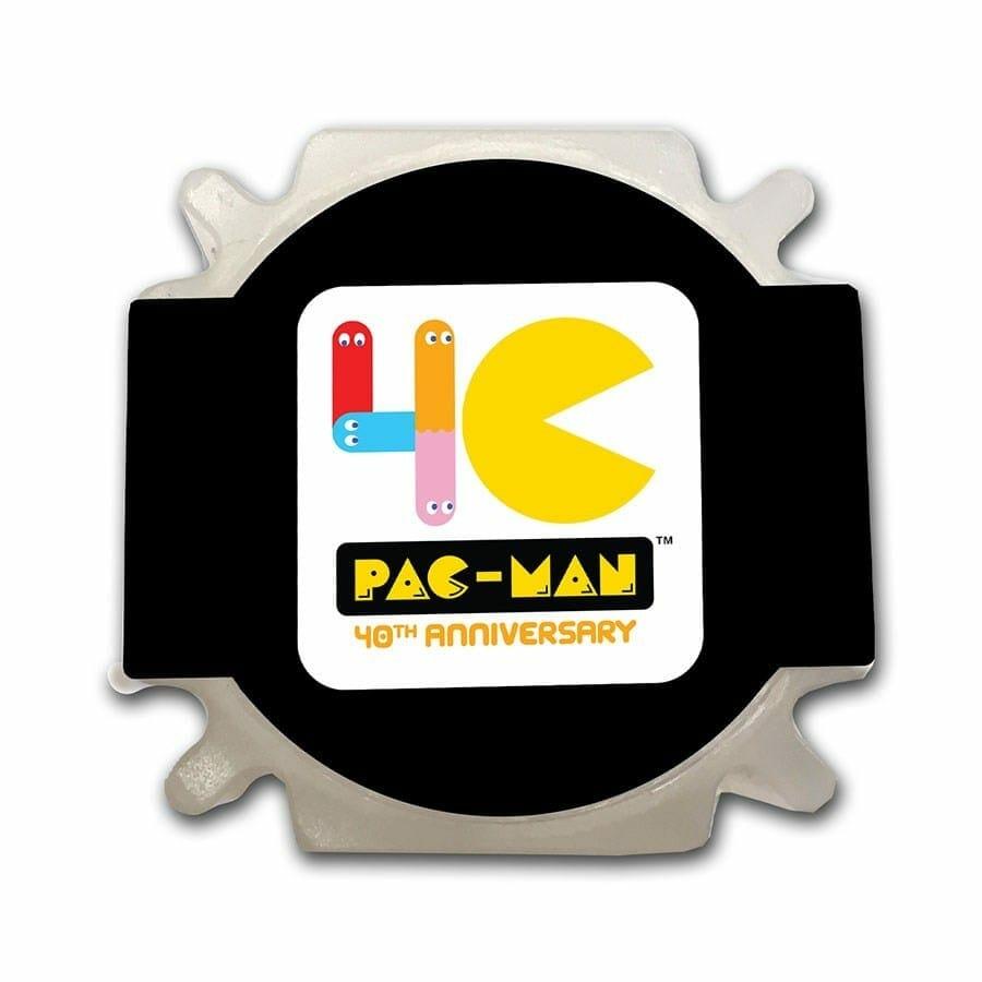 2020 PAC-MAN 40th Anniversary 1oz .999 Silver Bullion Coin 9