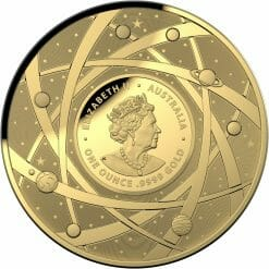 2021 $100 The Earth & Beyond - The Milky Way 1oz .9999 Gold Proof Colour Domed Coin 8