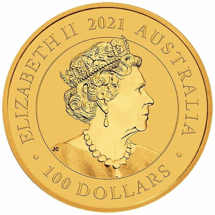 2021 Australian Swan 1oz .9999 Gold Bullion Coin 4