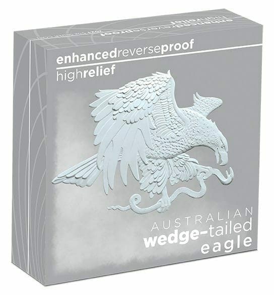 2021 Australian Wedge-Tailed Eagle 5oz .9999 Silver Enhanced Reverse Proof High Relief Coin 5
