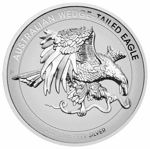 2021 Australian Wedge-Tailed Eagle 5oz .9999 Silver Enhanced Reverse Proof High Relief Coin 1