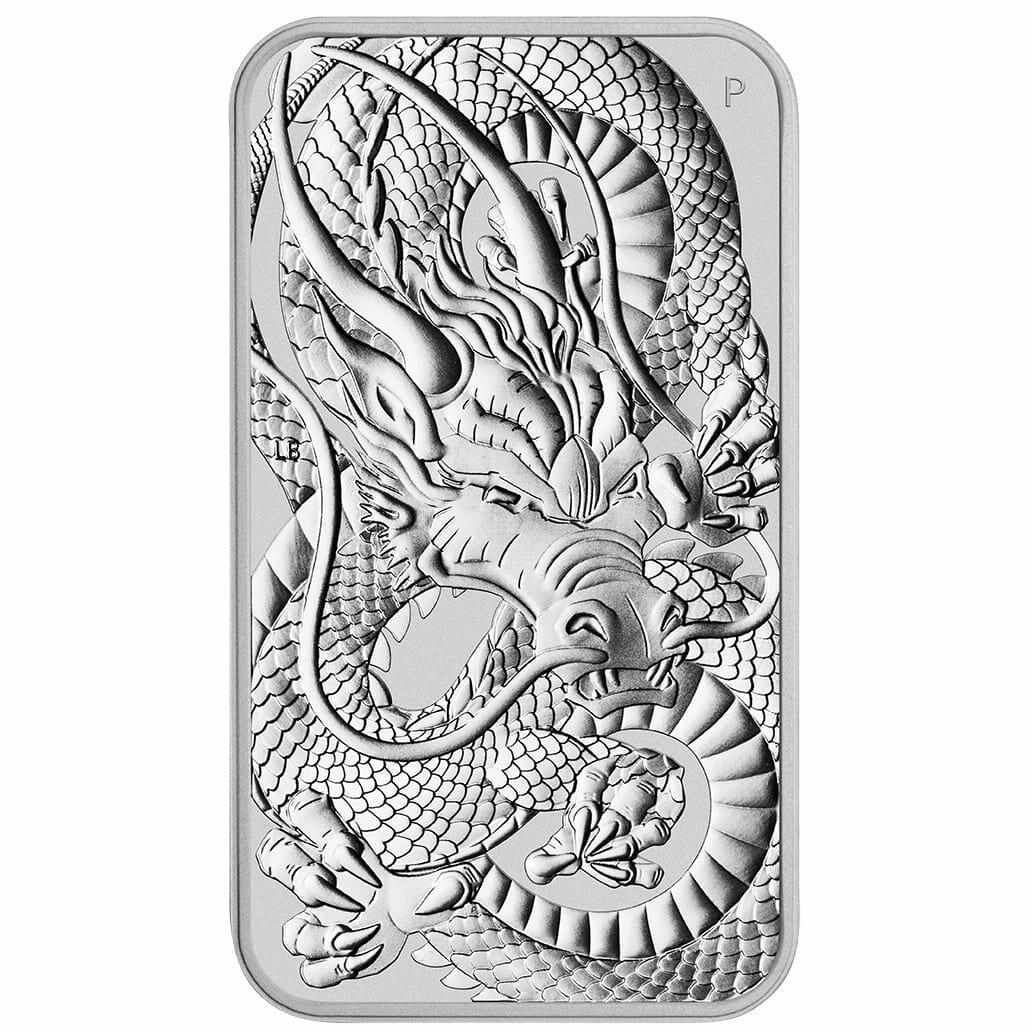 2021 Dragon 1oz .9999 Silver Bullion Rectangular Coin