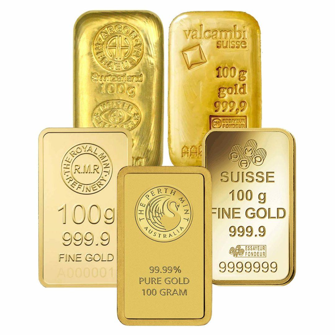 Low Premium 100g Gold Bullion 1