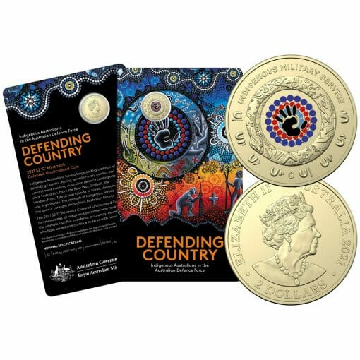 2021 $2 Indigenous Military Service 'C' Mintmark Uncirculated Coin in Card 1