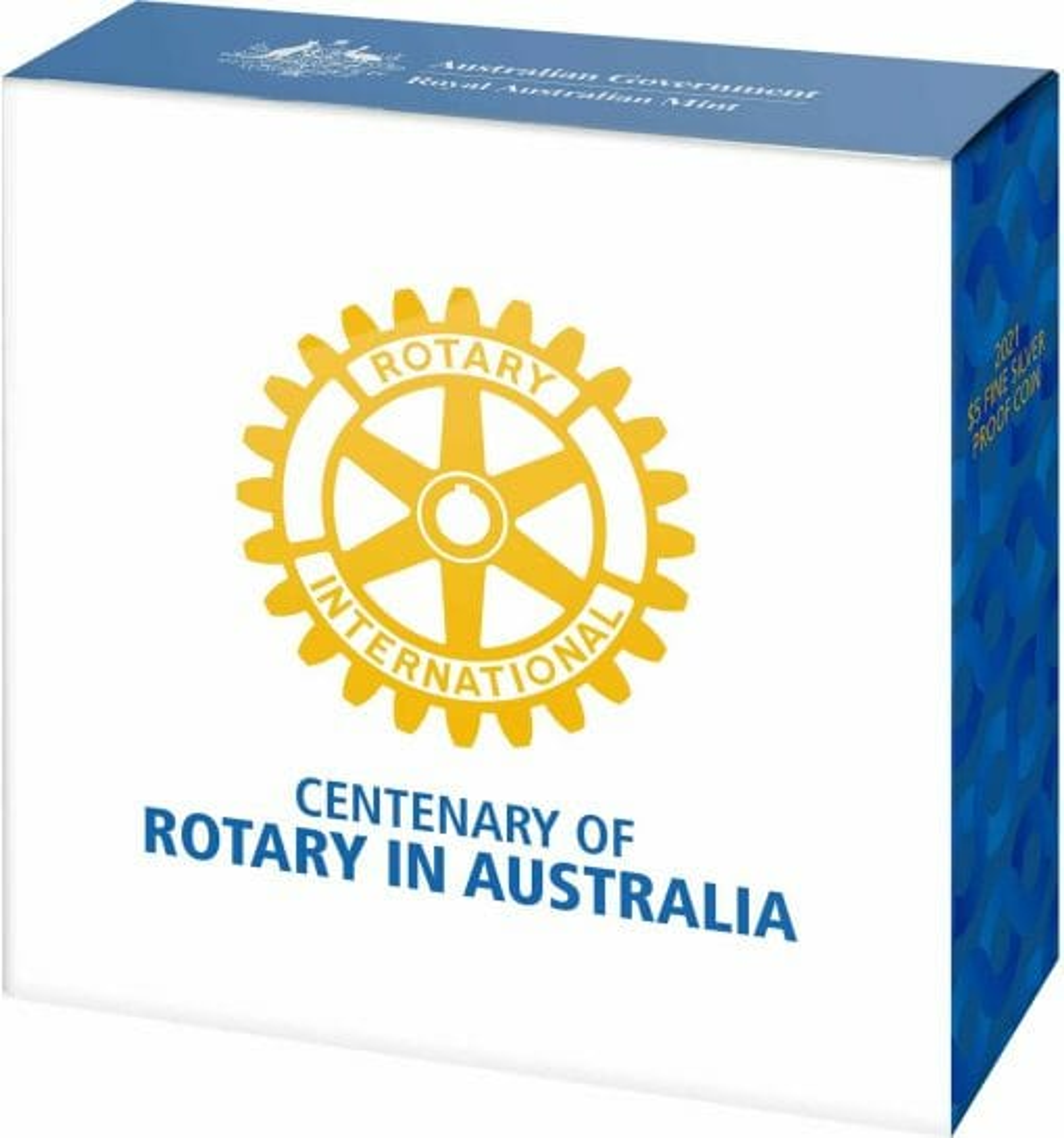 2021 $5 Centenary of Rotary Australia 1oz .999 Silver Proof Coin 5