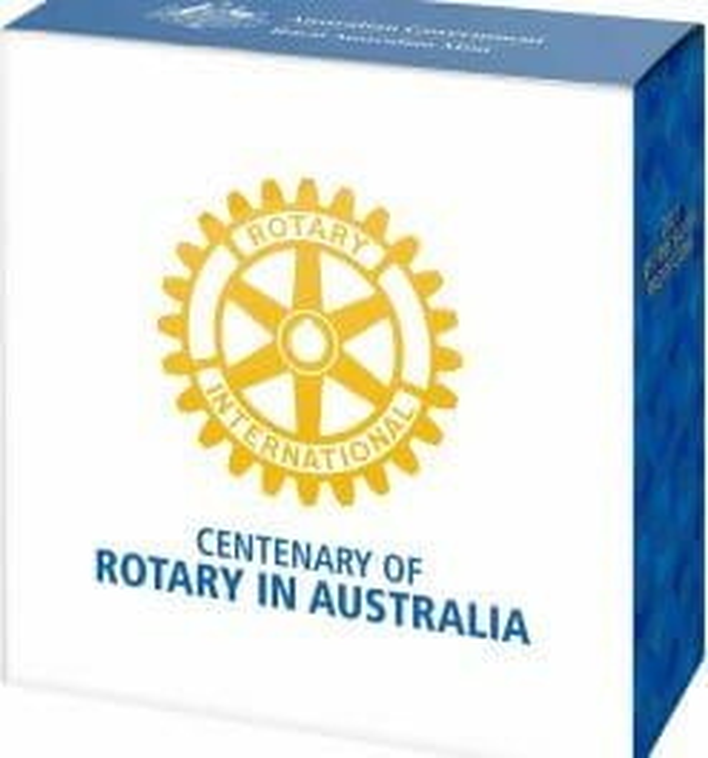 2021 $5 Centenary of Rotary Australia 1oz .999 Silver Proof Coin 10