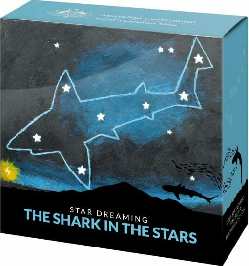 2021 $1 Star Dreaming - Beizam - The Shark in the Stars 1/2oz .999 Coloured Silver Coin 5