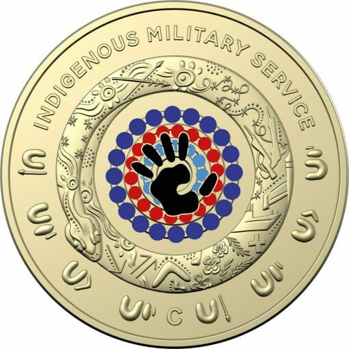 2021 $2 Indigenous Military Service 'C' Mintmark Uncirculated Coin in Card 3
