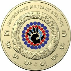 2021 $2 Indigenous Military Service 'C' Mintmark Uncirculated Coin in Card 6