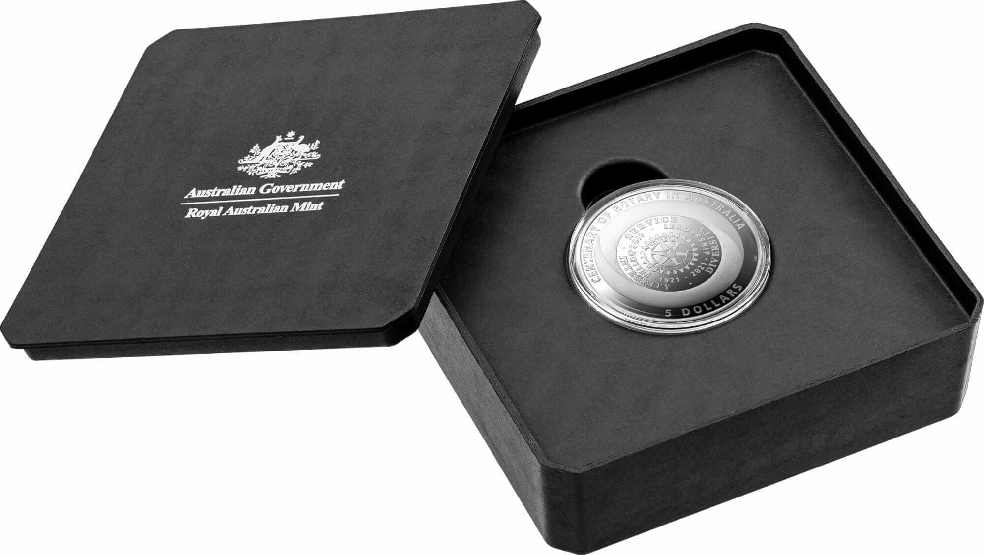 2021 $5 Centenary of Rotary Australia 1oz .999 Silver Proof Coin 4