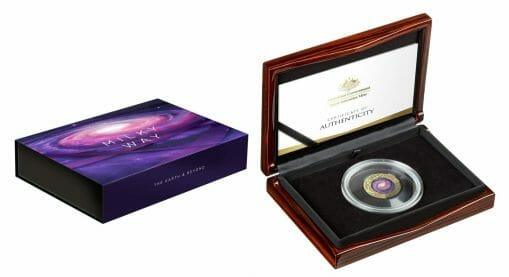 2021 $100 The Earth & Beyond - The Milky Way 1oz .9999 Gold Proof Colour Domed Coin 5