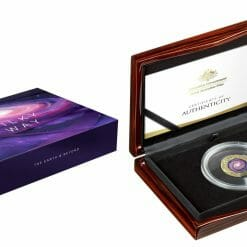 2021 $100 The Earth & Beyond - The Milky Way 1oz .9999 Gold Proof Colour Domed Coin 10