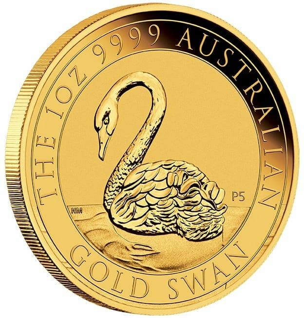 2021 Australian Swan 1oz .9999 Gold Bullion Coin 3
