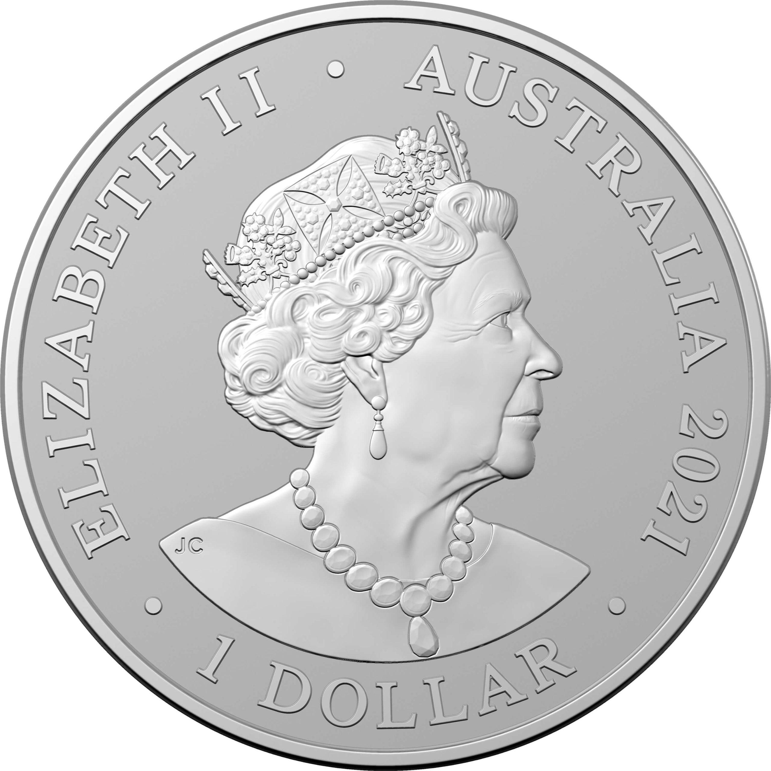 2021 $1 Australian Dolphin Series - Fraser's Dolphin 1oz .999 Silver Bullion Coin 2