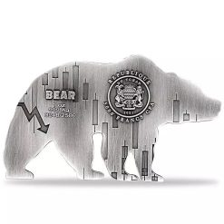 2021 Chad Bear Shaped 1oz .999 Silver Antiqued High Relief Coin 4