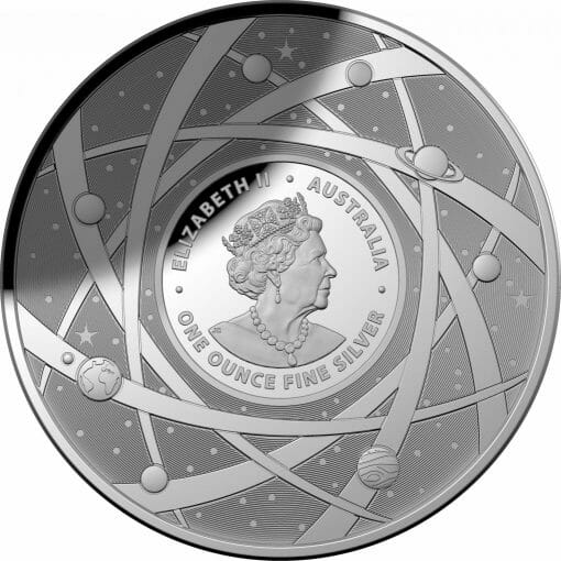 2021 $5 The Earth & Beyond - The Milky Way 1oz .999 Silver Proof Colour Domed Coin 2