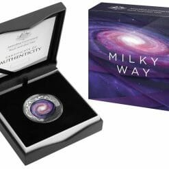 2021 $5 The Earth & Beyond - The Milky Way 1oz .999 Silver Proof Colour Domed Coin 10