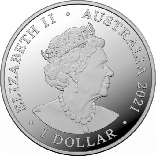 2021 $1 Kangaroo Series - Outback Majesty 1oz .999 Silver Proof Coin 2