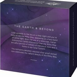 2021 $5 The Earth & Beyond - The Milky Way 1oz .999 Silver Proof Colour Domed Coin 13