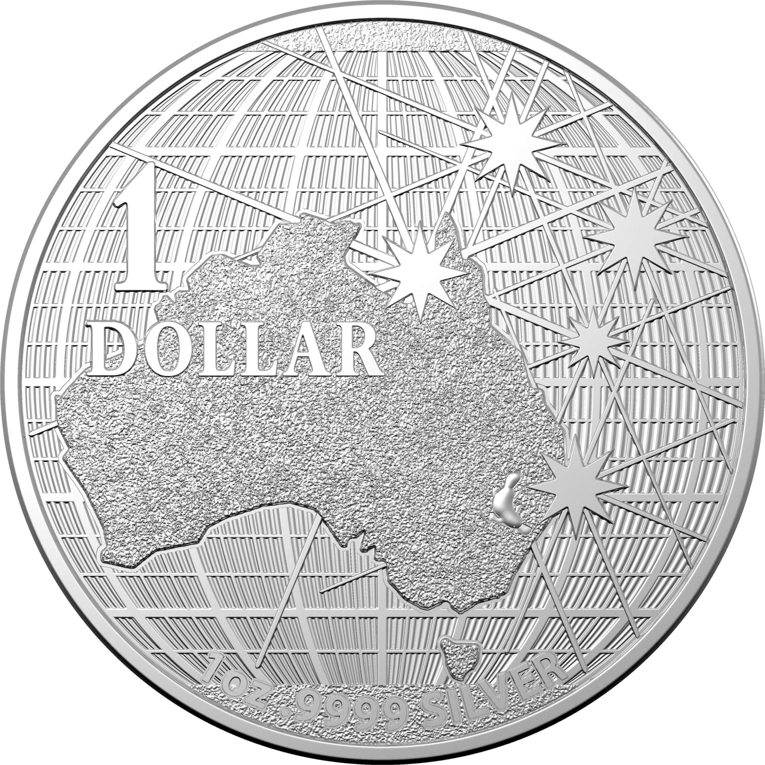 2021 $1 Beneath the Southern Skies 1oz .9999 Silver Bullion Coin - Platypus 1