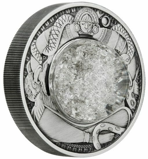 2021 Tears of the Moon 2oz .9999 Silver Antiqued Coin 2