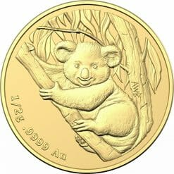 2021 $2 Mini Koala 1/2 gram 0.5g .9999 Gold Frosted Uncirculated Coin 6
