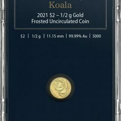 2021 $2 Mini Koala 1/2 gram 0.5g .9999 Gold Frosted Uncirculated Coin 8