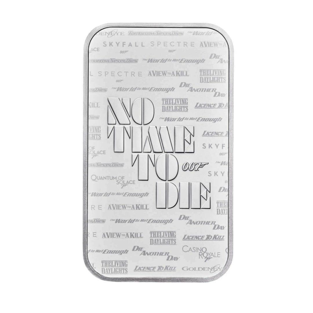 2020 007 James Bond - No Time To Die 1oz .9999 Silver Bullion Bar 2