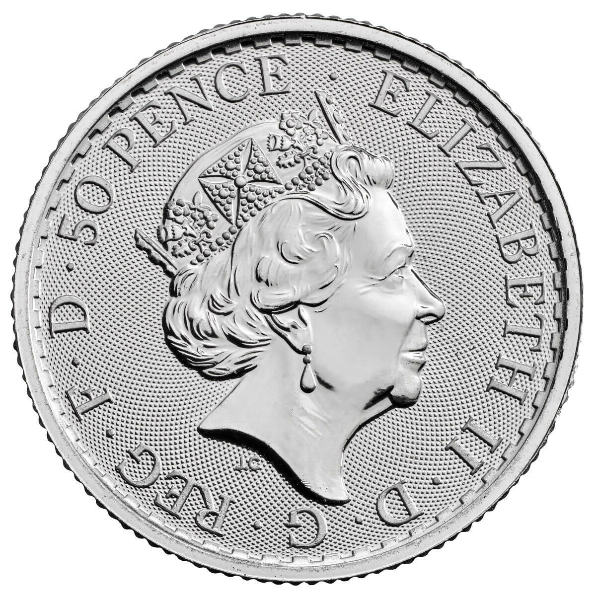 2021 Britannia 1/4oz .999 Silver Bullion Coin 2