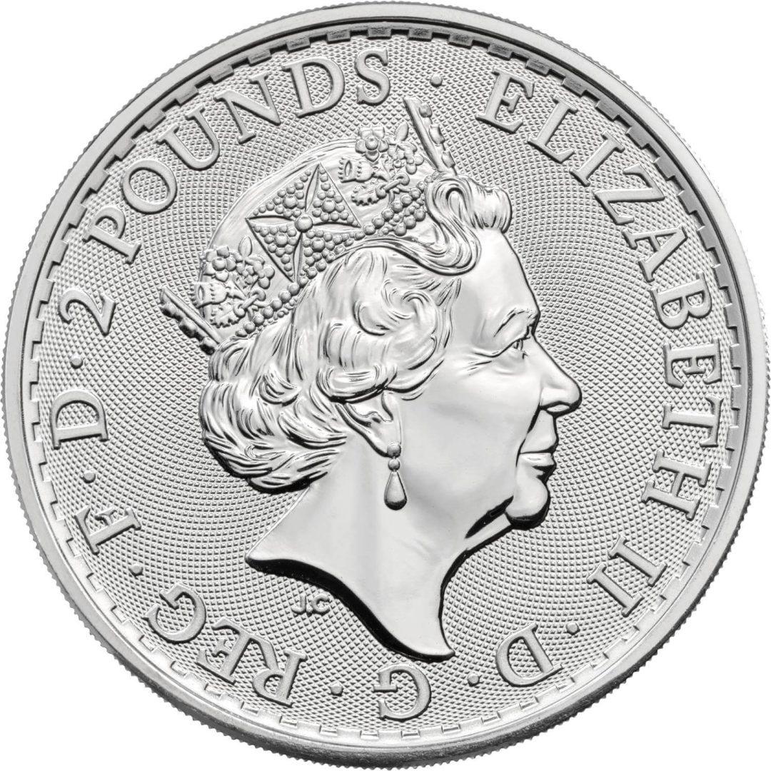 2021 Britannia 1oz .999 Silver Bullion Coin 2