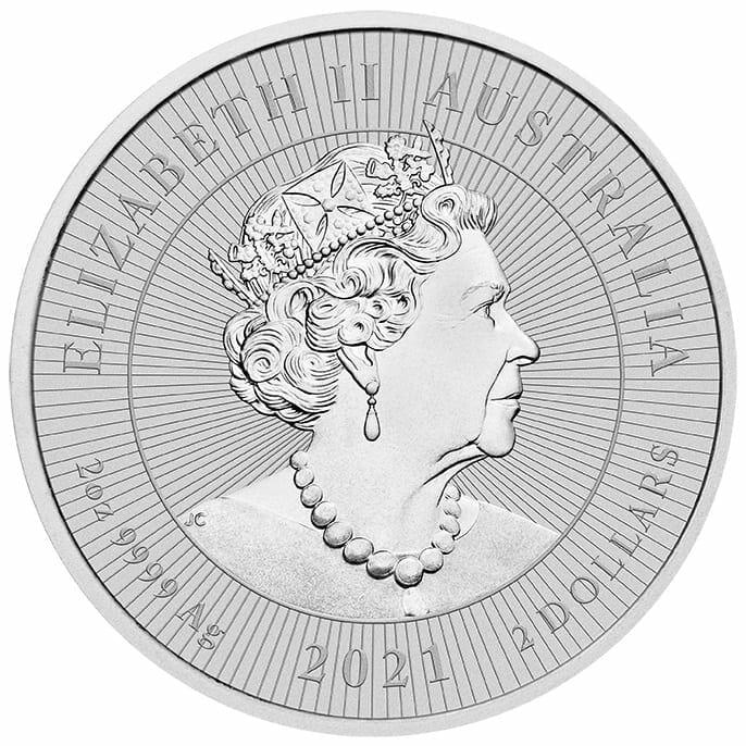 2021 Mother & Baby Platypus 2oz .9999 Silver Bullion Piedfort Coin 3