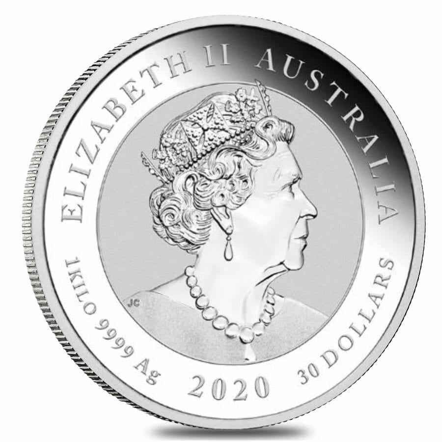 2020 Bull and Bear 1kg .9999 Silver Bullion Coin - 1 Kilo 3