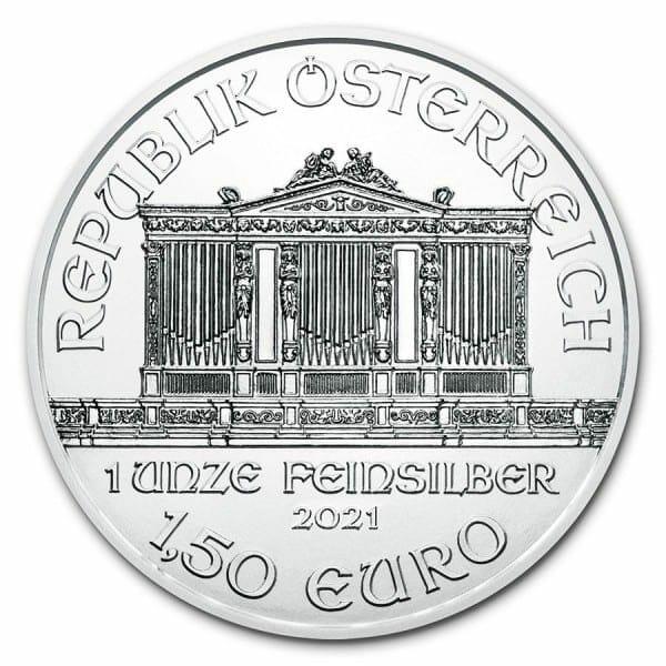 2021 Austrian Philharmonic 1oz .999 Silver Bullion Coin 5