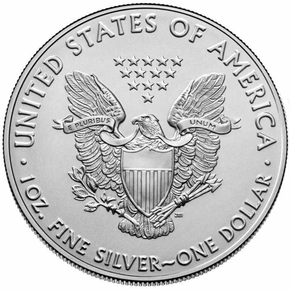 2021 American Silver Eagle 1oz .999 Silver Bullion Coin ASE (Type 1) 2