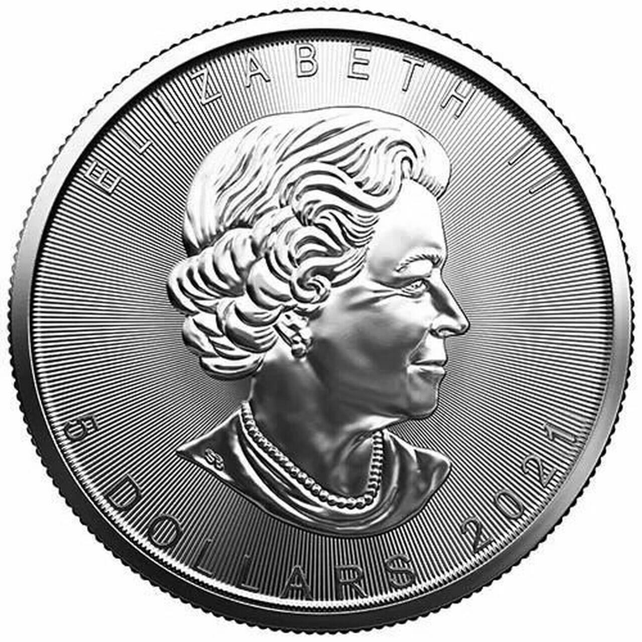 2021 Maple Leaf 1oz .9999 Silver Bullion Coin 2