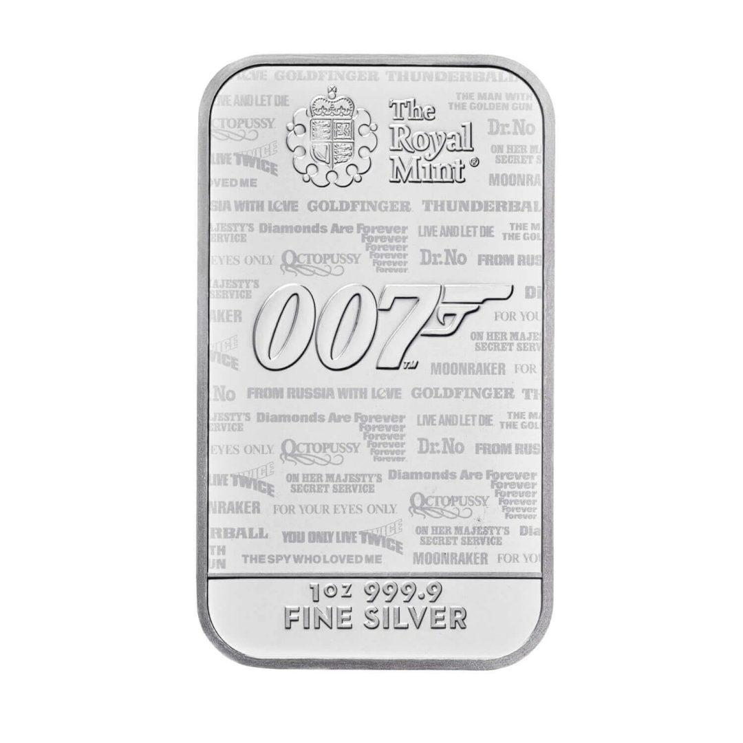 2020 007 James Bond - No Time To Die 1oz .9999 Silver Bullion Bar 1