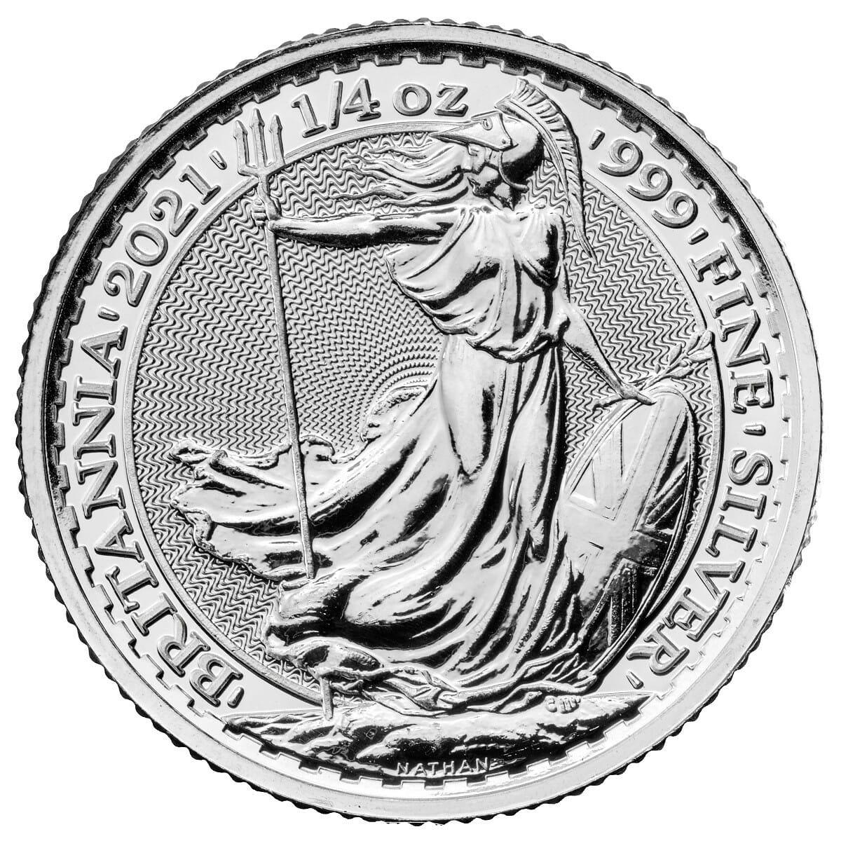 2021 Britannia 1/4oz .999 Silver Bullion Coin 1