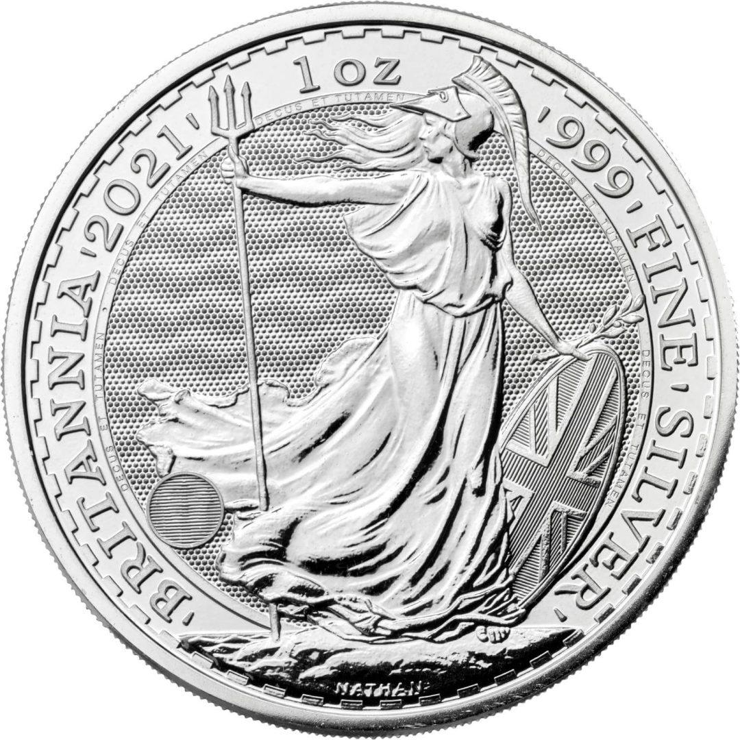 2021 Britannia 1oz .999 Silver Bullion Coin 1