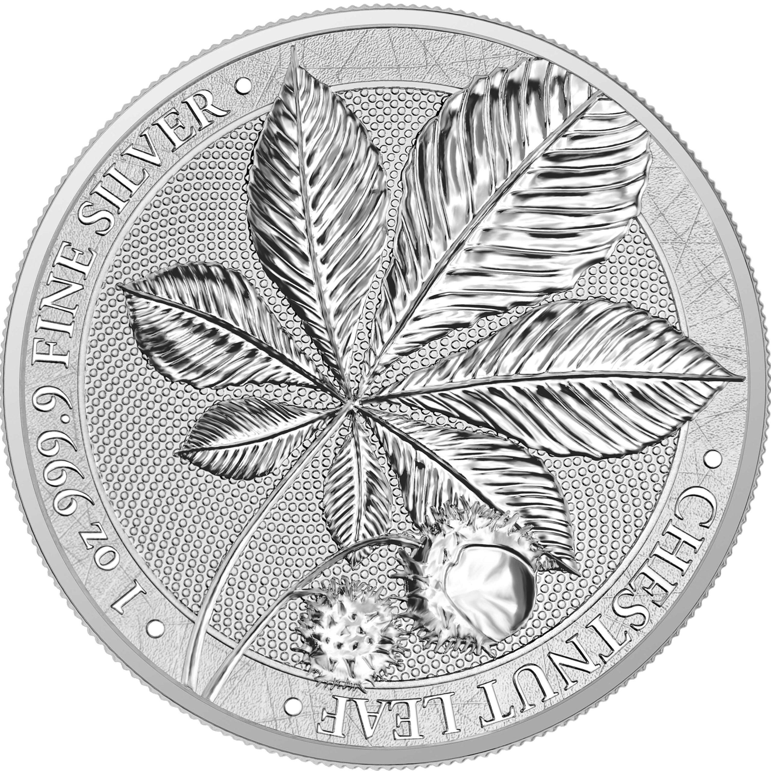 2021 Mythical Forest - Chestnut Leaf 1oz .9999 Silver Bullion Coin 1