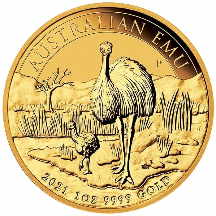 2021 Australian Emu 1oz .9999 Gold Bullion Coin 1