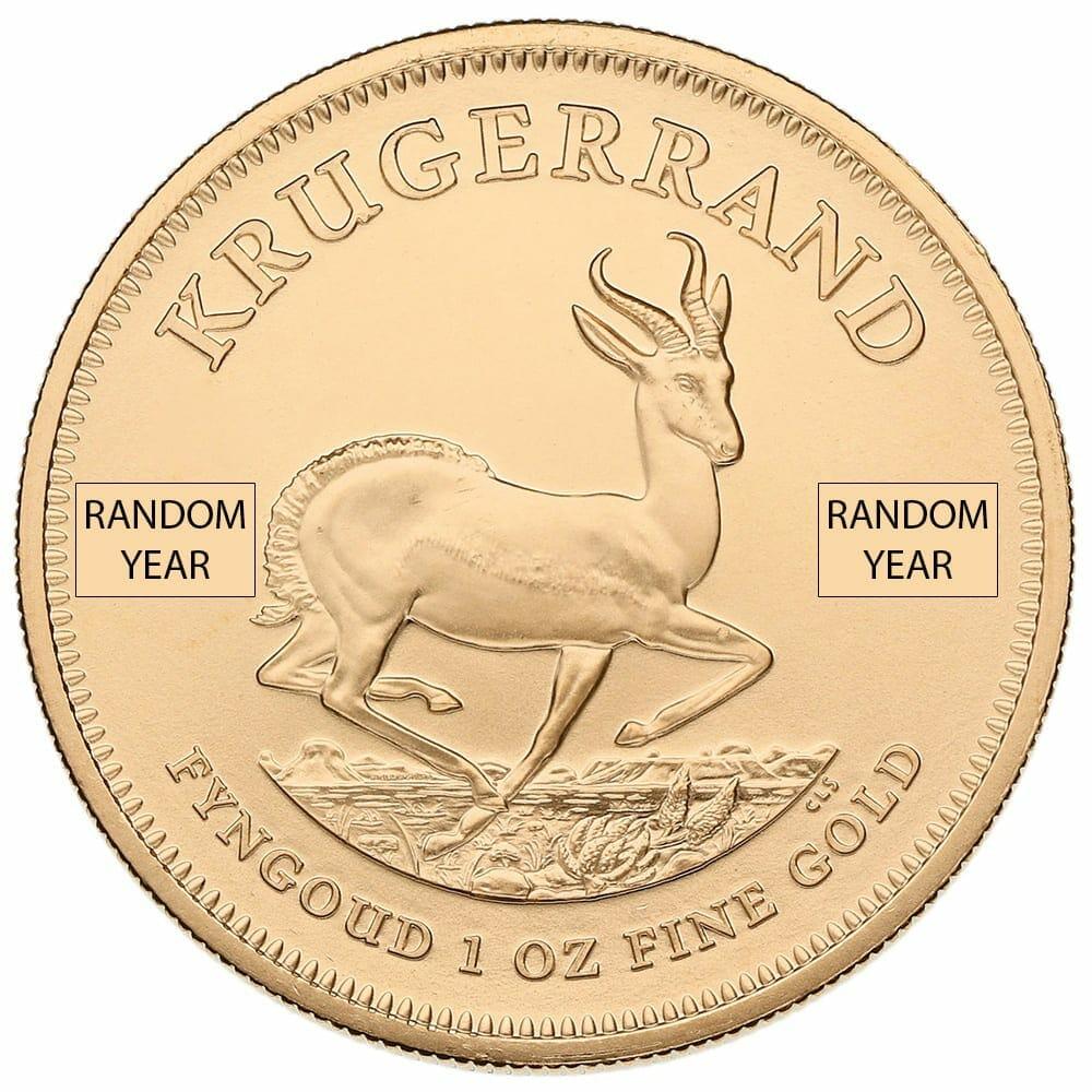 South African Krugerrand 1oz Gold Coin - Random Year 1
