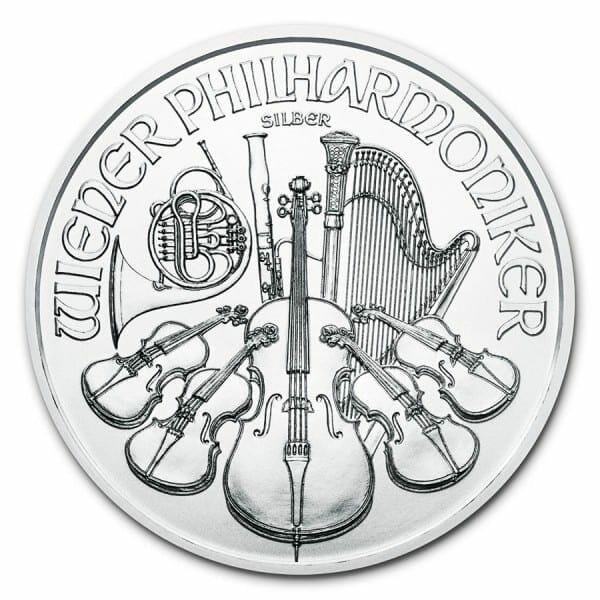 2021 Austrian Philharmonic 1oz .999 Silver Bullion Coin 1