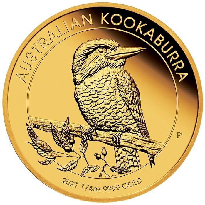 2021 Australian Kookaburra 1/4oz .9999 Gold Proof Coin 1