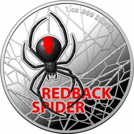 2021 Australia's Most Dangerous - Redback Spider 1oz .999 Silver Coloured Proof Coin 1