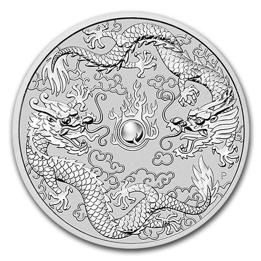 2021 Australia Double Dragon 10oz .9999 Silver Bullion Coin 1