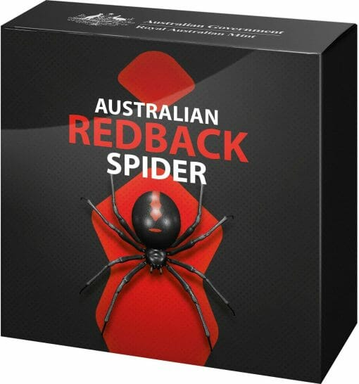 2021 Australia's Most Dangerous - Redback Spider 1oz .999 Silver Coloured Proof Coin 3