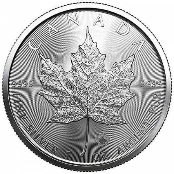 2021 Maple Leaf 1oz .9999 Silver Bullion Coin 1
