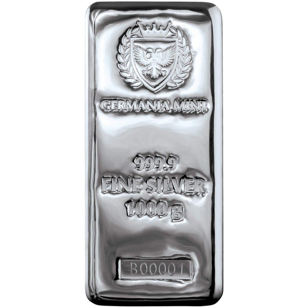 Germania Mint 1kg .9999 Silver Cast Bullion Bar - 1 Kilo