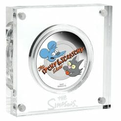 2021 The Simpsons - Itchy & Scratchy 1oz .9999 Silver Proof Coloured Coin 7